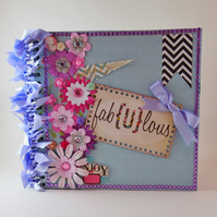 Fabulous Scrapbook Album, Floral Photo Album, Mini Album, Memory Book, Gift Idea