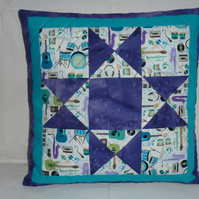Purple Ohio Star Cushion