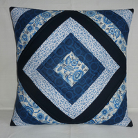 Blue Diamond Cushion