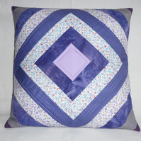 Purple Diamond Cushion