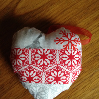 Patchwork Heart Decoration