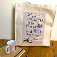 Book Lover's Tote Bag CS Lewis Quote