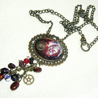 OOAK Steampunk Style 3D  Vampyre Necklace Cosplay