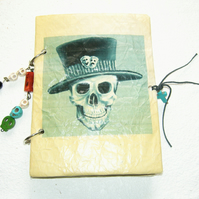 OOAK Handemade Gothic Skull Vintage Style Notebook
