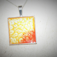Supa Nova  Square Pendant FREE UK Post