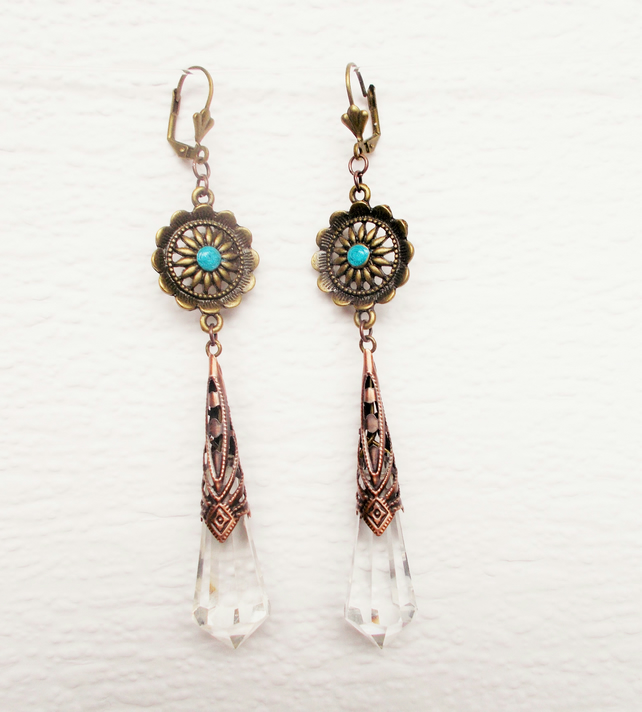 Upcycled Chandelier Earrings