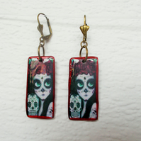 Halloween  Day of the Dead Earrings FREE UK Post
