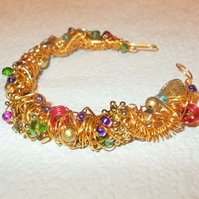 Gold Shabangle Bracelet