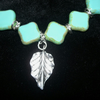 Turquoise Leaf Bracelet FREE UK Post