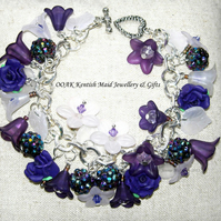 FREE UK post Purple flower bracelet