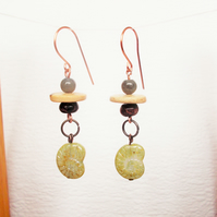 Fossil Gemstone Earrings