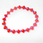 Red & Purple Stretchy Bracelet FREE UK Post