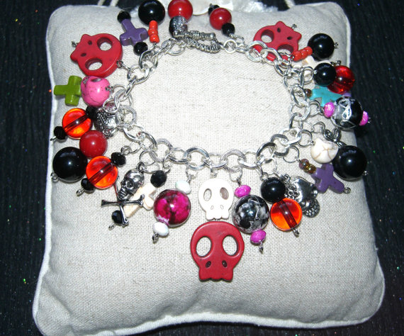 Halloween  Day of the Dead Charm Bracelet