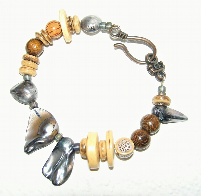 Organic Earth Tribal Bracelet  - FREE UK Post