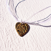 Peace Dove Heart Necklace - FREE UK post