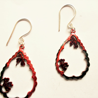 Garland Earrings - Red & Green
