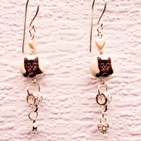 Kitty Cat Lover earrings - FREE UK Post
