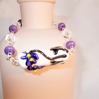 Ceramic Beaded Bracelet - FREE UK Post