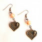 Steampunk Skull Heart Earrings Cosplay  - FREE UK Post