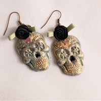 Halloween Skull Earrings - FREE UK Post