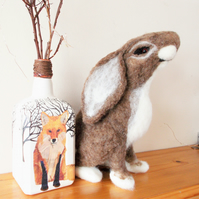 Adorable Needle felted Moon Gazing Hare
