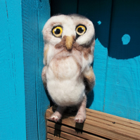 Felted Baby Owl Owlette