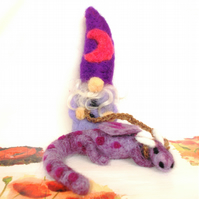 Magnus & Matillbo Felted Art Sculptures