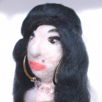 Amy Winehouse Needle felted Sculpture