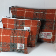 Harris Tweed Toiletry Bag - large size