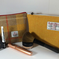 Harris Tweed Make up cosmetics bag gift boxed - medium size