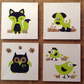 Set of 4 Handmade Canvases Cute Animals Child's Room 20 x 20cm