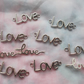 1 bag of love charms for jewellery making