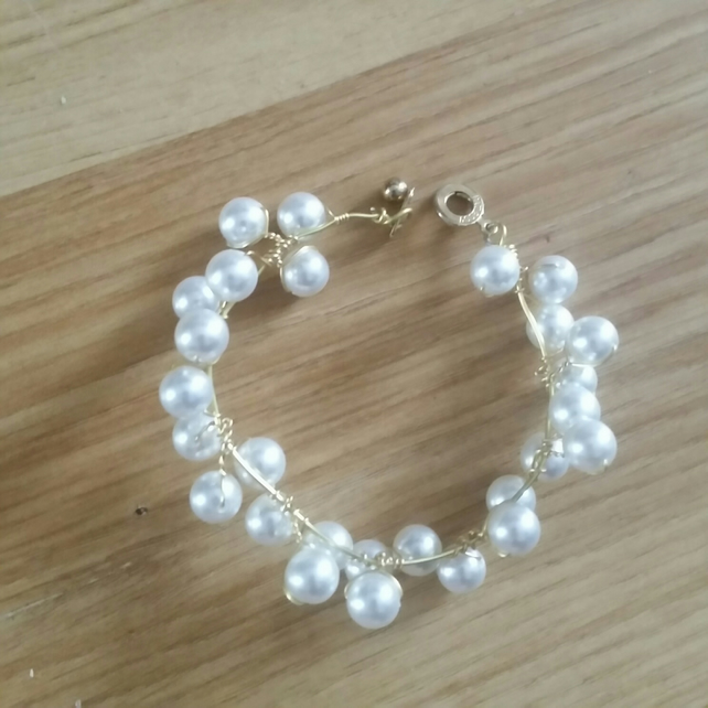 1 Beautiful white Beaded Bracelet for special someone