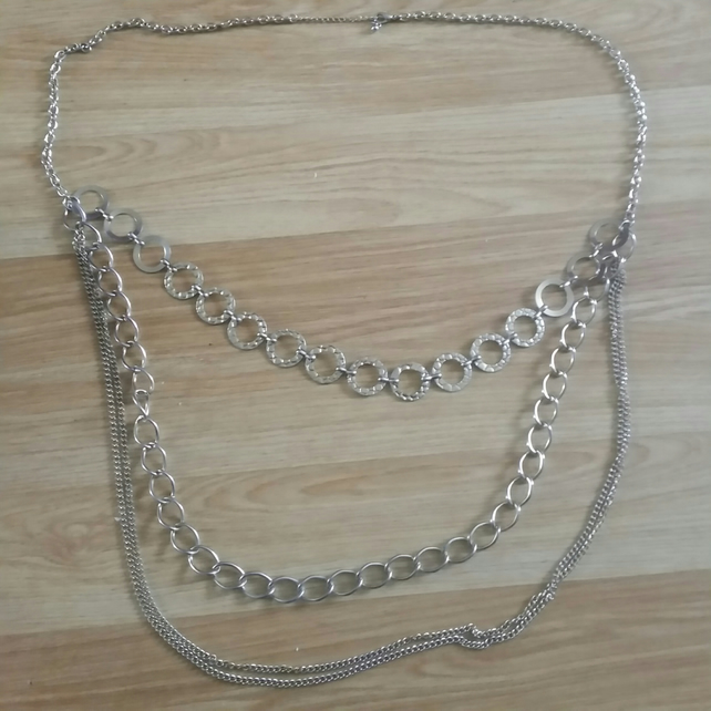 1 Gold plated chains  necklace for someone special  upcycling