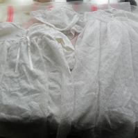 2 Beautiful vintage lace christening gowns and hat for some  special babies
