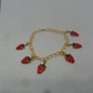 1 Beautiful Handmade strawberry Charm Bracelet for special gift