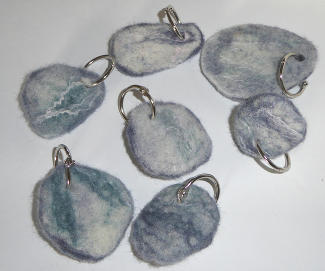 Felt 'slate' keyring - gift for him, her or teenager