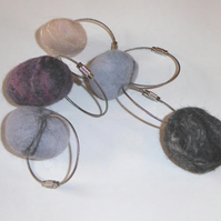 Felt 'pebble' keyrings - great gifts for teenagers or new home