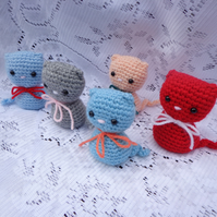 Mini Kitten crochet Cat soft figure Amigurumi kitty choose a colour