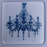 Chandelier Coasters in aventurine blue