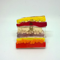 Yorkshire Landscape Brooch.  Autumn 7