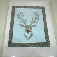 Christmas Stag Cards Pack G