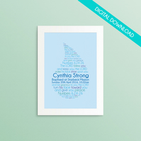 Personalised Baptism or Christening PRINT YOUR OWN - The Lord Bless You...