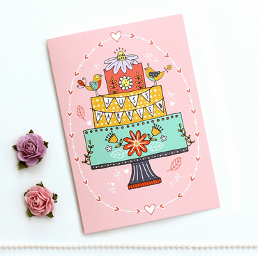 Illustrated Just Married Card