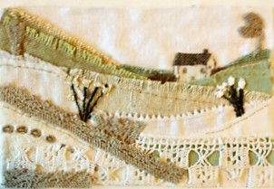 Fabric Landscape Art (cw canvas)