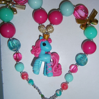 Bubblegum Lalaloopsy pony necklace,  Cake Smash Necklace