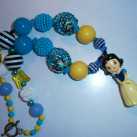 Disney snow white chunky necklace,  Cake Smash Necklace
