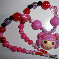 Bubblegum lalaloopsy necklace, Cake Smash Necklace
