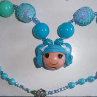 Bubblegum lalaloopsy necklace ,Cake Smash Necklace