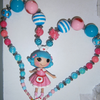 Bubblegum lalaloopsy chunky  necklace,  Cake Smash Necklace